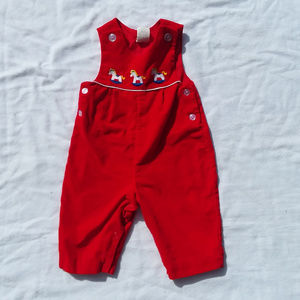 VINTAGE kids red one piece outfit